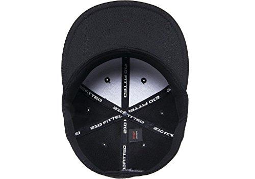 Flexfit Premium Flatbill Cap – Fitted 6210 - Small Medium (Black ... 90729d8e4ccd