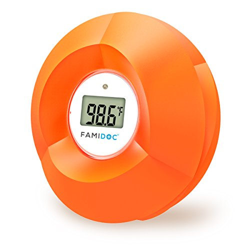Famidoc Baby Bath Thermometer Floating Toy Bath Tub Thermometers, Flower (Bath Thermometer)