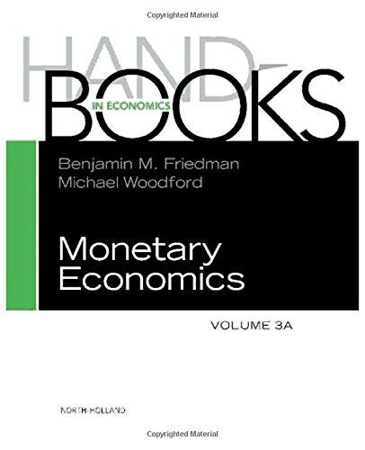Handbook of Monetary Economics 3A, Volume 3A