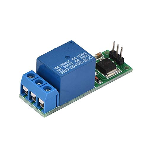 Flip-Flop Latch Relay Module, Walfront DC 6-24V Bistable Self-Locking Switch Low Pulse Trigger Board ¡­