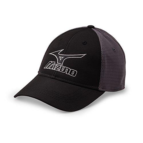 Mizuno Tour Fitted Cap Black/Grey, Large/X-Large