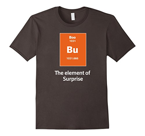 [Men's Boo Bu The Element Of Surprise Science Halloween Costume Tee Large Asphalt] (Clever Halloween Costume Ideas College)