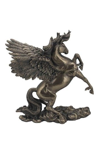 11 Inch Rearing Pegasus Statue Fantasy Magic Collectible Greek Flying (Fantasy Sculpture)