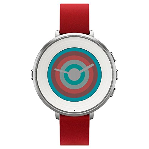 pebble-technology-corp-smartwatch-for-iphone-android-smartphone-silver-red