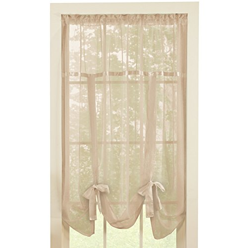 Solid Sheer Pocket Window Curtain