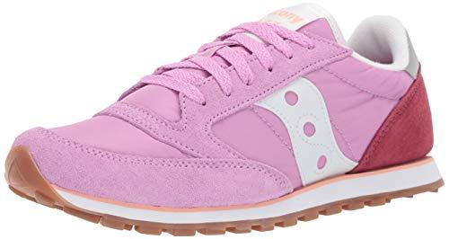 Saucony Originals Women's Jazz Lowpro Sneaker, Purple/Magenta/Peach, 8 M US