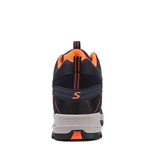 Imperméable Sports Boots Bleu 45 Femme Randonnée Bottes Chaussures 35 Sneakers Cuir Outdoor Hommes Fexkean Basses Trekking YH8p8v