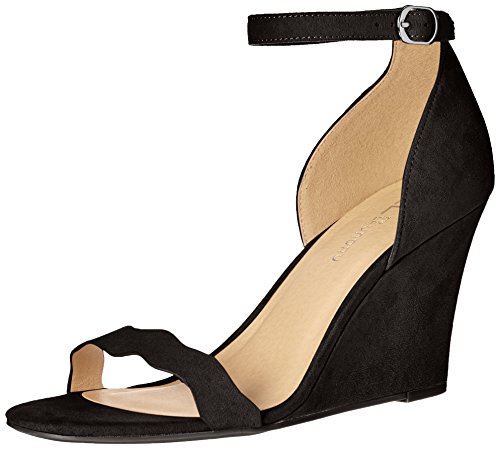 CL by Chinese Laundry Women's Best Match Wedge Pump Sandal, Black Super Suede,  7.5 M US