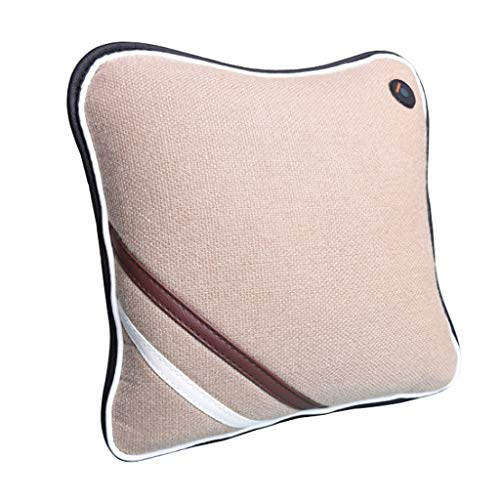 (MEI Back and Neck Massager Shiatsu, Cotton and Linen Massage Cushion Pillow Car Home Office Use (Color : A))