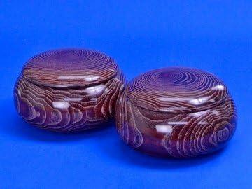 木製碁笥 栗(平形) 特大 ※将碁屋ミニ椿油付き