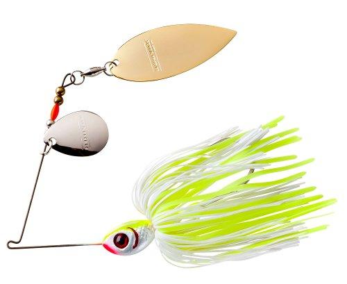 BOOYAH Vibra-Flx Spinnerbait Fishing Lure - Shadtreuse - 3/8 oz