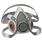 3M Half Facepiece Reusable Respirator 6100/07024(AAD), Respiratory Protection, Small (Pack of 1)