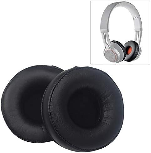スポンジイヤホンカバー Jabraのために2 PCSシンプルで実用的なRevoのワイヤレスヘッドフォンクッションスポンジレザーカバーイヤーマフ用交換イヤーパッドを、移動(ブラック) (Color : Black)