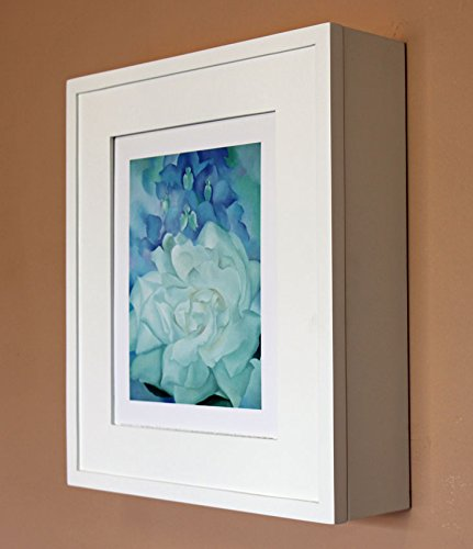 Cabinet Picture Frame - White Picture Perfect Medicine Cabinet, a wall-mount picture frame medicine cabinet without mirror - Available in Black, Coffee Bean, Caramel, & more!