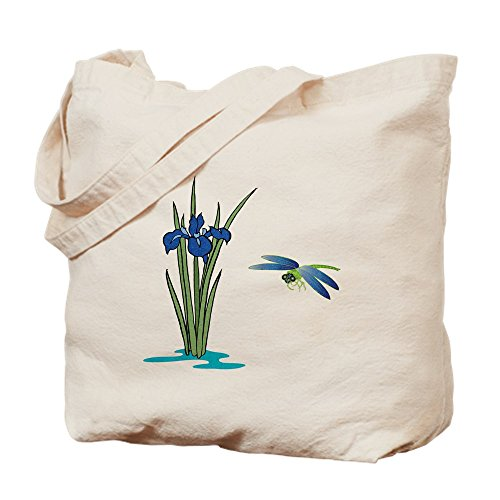 CafePress - Dragonfly Iris - Natural Canvas Tote Bag, Cloth Shopping (Dragonfly Iris)