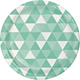Mint Green Fractal 9 Inch Lunch/Dinner Plates