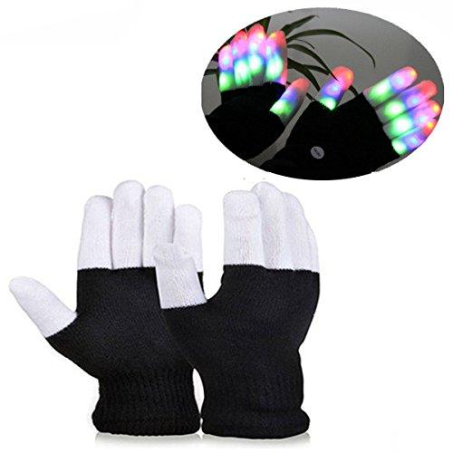DIMY DM03 LED Colorful Flashing Finger Lighting Rave Gloves for Children - Amazing Colorful Flashing Novelty Toys & Christmas Gift for Kids