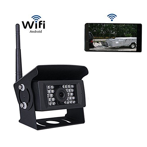 Wifi Car Backup Camera 28 IRs Night Vision 120°Wide Viewing Wireless Rear View Camera for Android IOS Device
