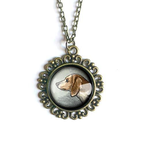 Beagle Dog pendant necklace