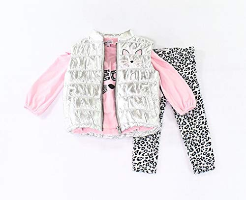 Flapdoodles Baby Girls 3-PC Cat-Print Legging Set Pink 2T - Flapdoodles Baby Girl