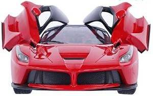 Brunte 1:16 kids Red Racing openable door and remote controlled car with rechargeable battery Very good design look like ferrari car working head light