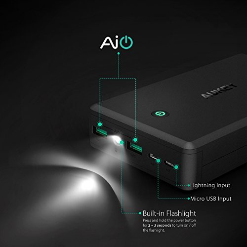 AUKEY 30000mAh energy Bank by using Lightning Micro advice convenient Charger 48A twice USB production Battery Pack for iPhone X 8 Plus iPad Pro and a great dea go Chargers