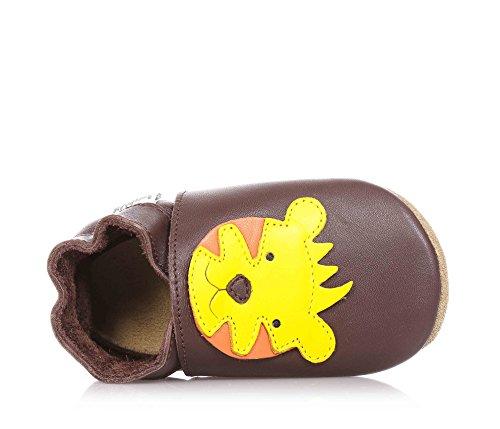Bobux Braune Baby-Schühchen, Aus Atmungsaktiven Naturleder, mit Gummizug Am Knöchel, Baby Jungen