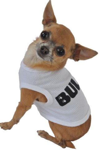 Ruff Ruff and Meow Dog Tank Top, Bully, White, Extra-Large