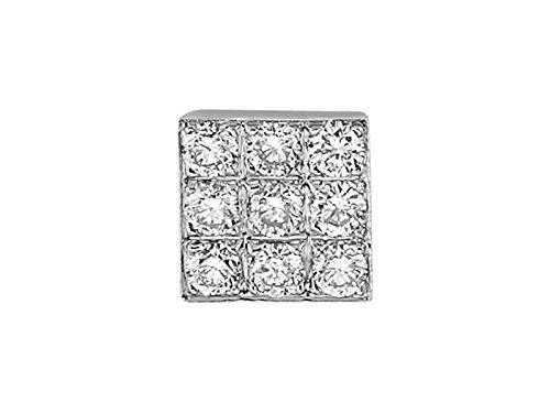 Boucle d'Oreille Pour Hommes Diamants-Femme- or Blanc 215E0032