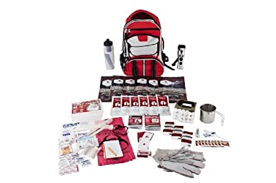 Guardian Survival Long Term Food Storage Emergency Kit, Red Backpack