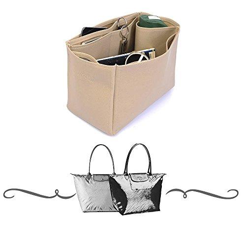 Le Pliage Large / Neo Large Deluxe Leather Handbag Organizer, Leather bag  insert for Longchamp