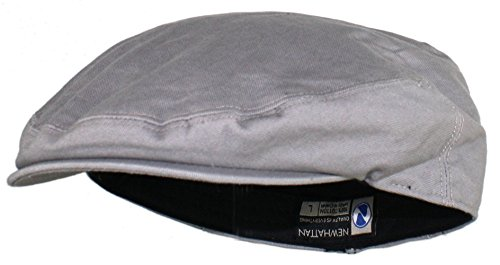 Cotton Newsboy - Ted and Jack - Street Easy Traditional Solid Cotton Newsboy Cap in Light Gray Size XL