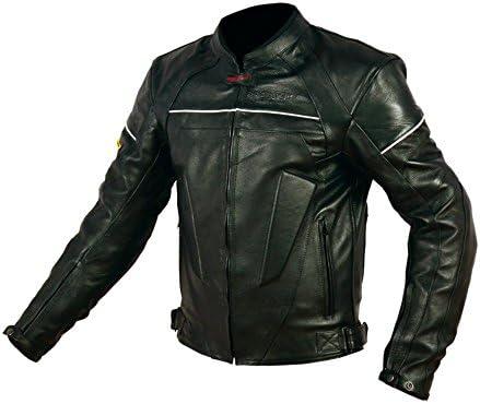 Rider-Tec CE-13595 - Chaqueta de piel para moto, homologada