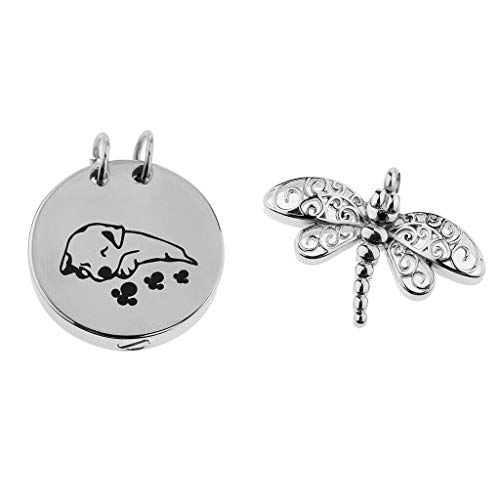 2 PCS Dragonfly Shaped Pendant Pet Memorial Keepsake Urn Pendant for Ashes Necklace Jewelry Crafting Key Chain Bracelet Pendants Accessories Best ()