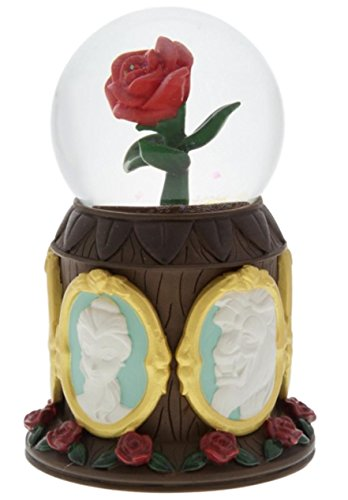 Disney Parks Beauty and the Beast Musical Rose Snowglobe