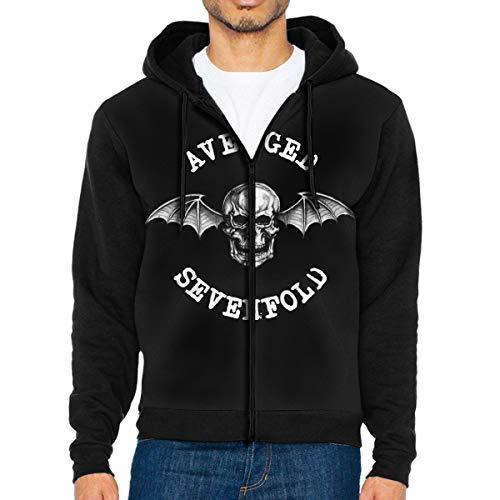 Avenged Sevenfold Hail to The King Men's Adult Baseball Raglan Jacket Zip Sweatshirt Hoodie Coat Pullover Big Pockets