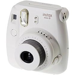 Fujifilm Instax Mini 8 Fotocamera Istantanea per Stampe Formato 62x46 mm, Bianco