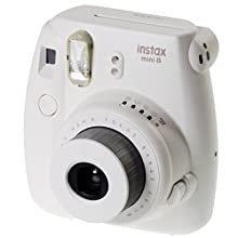 FujiFilm Instax Mini 8 with Strap and Batteries (White)