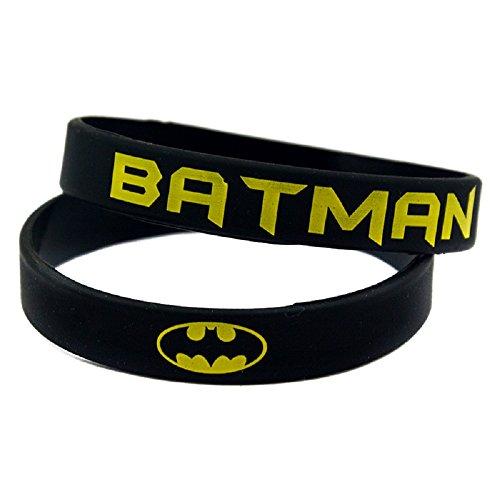 [10 PC Batman The Dark Knight White Silicone Wristbands Bracelets] (Batman Costumes Arkham Knight)