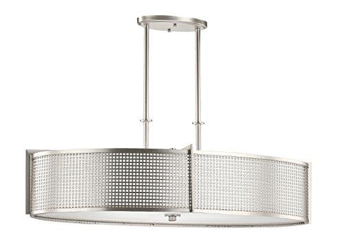Kichler  48116NI Perforated, Oval Chandelier/Pendant (6Lt), Brushed Nickel