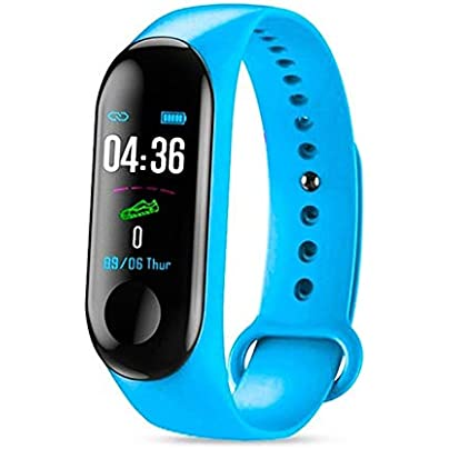 CamKpell Smart Band Watch Bracelet Fitness Tracker Pedometer Blood Pressure Heart Rate Monitor Waterproof Wristband Light Blue Estimated Price -