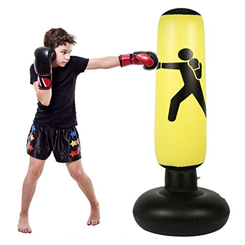 Kids Inflatable Punching Bag - Fitness Punching Bag for Kids, Heavy