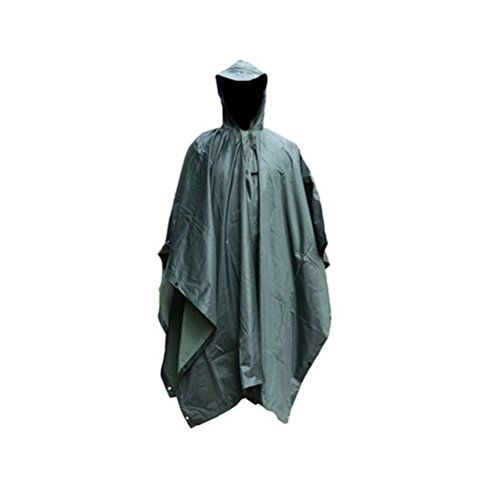 Kayiyasu ポンチョ レインコート 雨具 フード付き レインウェア 防水 男女兼用 雨合羽 梅雨対策 ミリタリー アウトドア 021-lghw-mcpp-101(フリーサイズ 写真より)