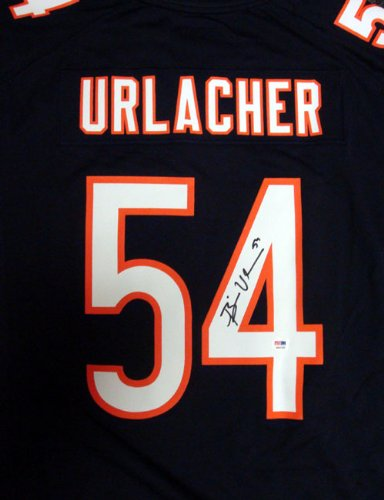 super popular 5d902 50bbc CHICAGO BEARS BRIAN URLACHER AUTOGRAPHED BLUE & WHITE NIKE ...