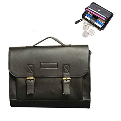 Men's Leather Messenger Shoulder Bags Business Work Briefcase Laptop Bag Handbag - Billfold Capital