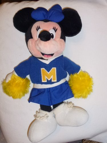 Walt Disney Minnie Mouse 14in Cheerleader Plush Doll - Walt Disneyland Plush Doll -