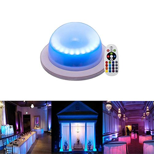 RGB 16 Color Options Remote Control Chargable Under Table Light, Outdoor Indoor Wireless Remote Control LED Garden Corridor Night Light, for Home, Wedding Decor (Led Bar Tables)
