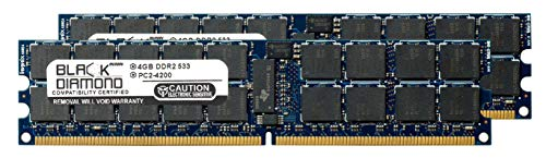 - 8GB 2X4GB Memory RAM for Intel Server System SR2520 SR2520SAX/SR2520SAXNA Black Diamond Memory Module 240pin PC2-4200 533MHz DDR2 ECC Registered RDIMM Upgrade