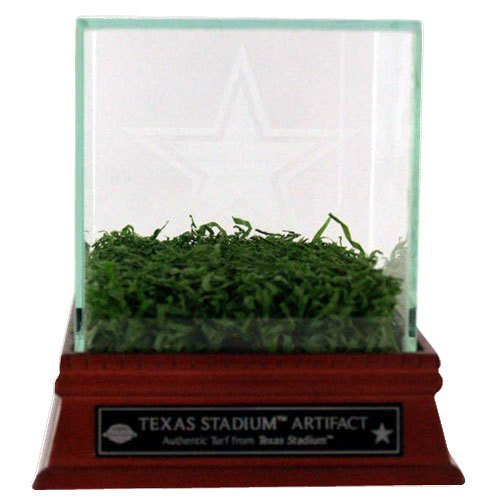 (Steiner Sports Dallas Cowboys Texas Stadium Game Used Turf with Etched Glass Display Case)