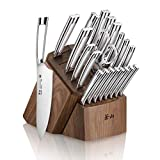 Cangshan N1 Series 1022377 23-Piece German Steel Forged Knife Block Set, Walnut Block